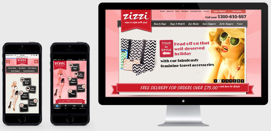 Zizzi Designs Multiple Screens